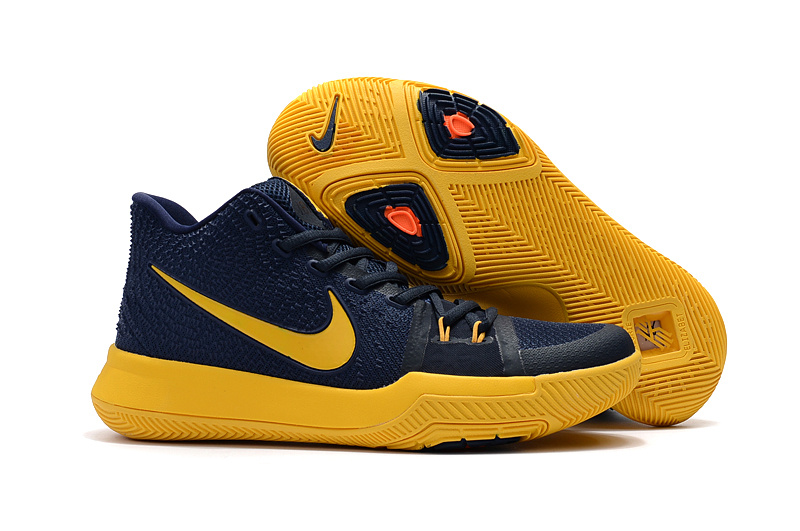 386b008a0bfb Nike Zoom Kyrie 3 EP Navy Blue Yellow Unisex Basketball Shoes - Sepsport