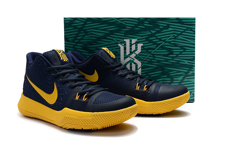 6d8c7273c3e Nike Zoom Kyrie 3 EP Navy Blue Yellow Unisex Basketball Shoes - Sepsport
