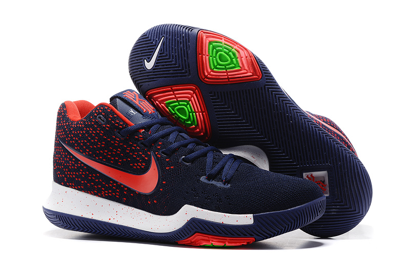 d99cbb9b60d Prev Nike Zoom Kyrie III 3 Flyknit deep blue red Men Basketball Shoes. Zoom