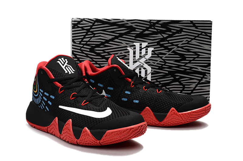 buy online 2ad5b e66f4 Nike Kyrie 4 Men Basketball Shoes Black Red