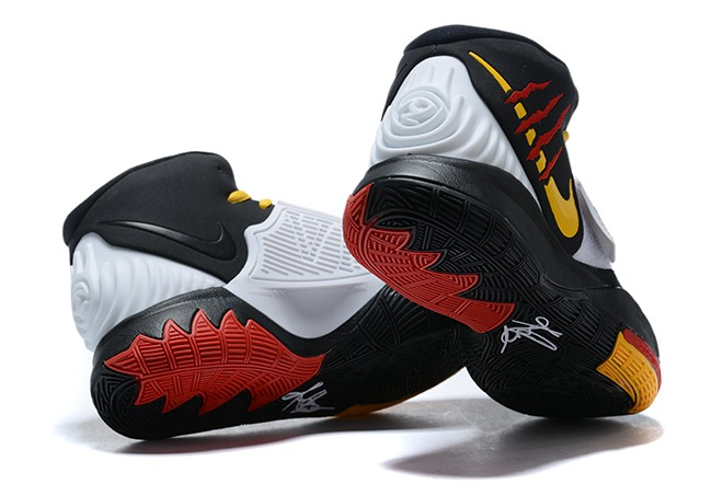 2020 Nike Kyrie 6 Bruce Lee Black White Del Sol Gym Red CJ1290 001