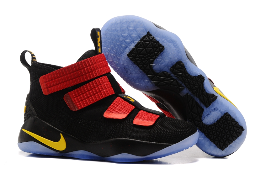 78c18978dd7c Nike Zoom LeBron Soldier XI 11 Men Basketball Shoes Black Red Yellow ...