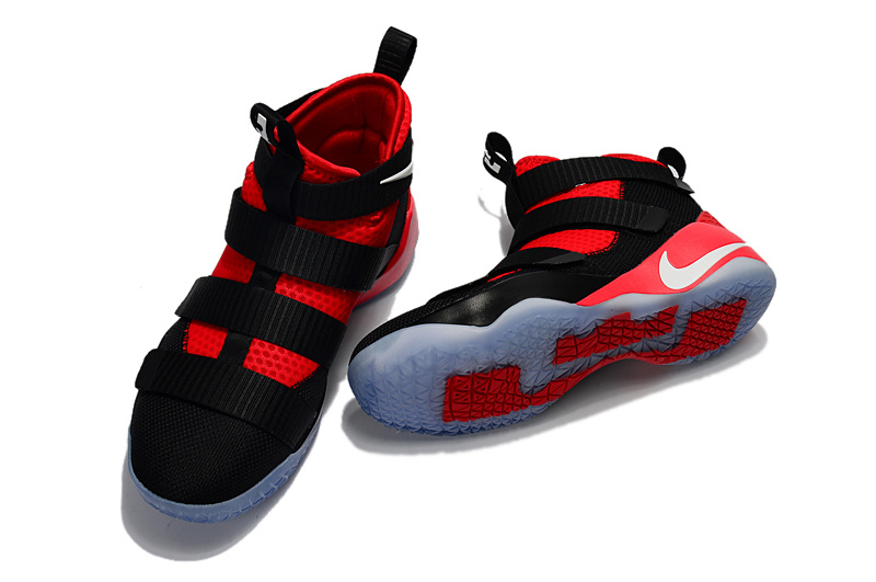 890bb8227b2c Nike Zoom Lebron Soldiers XI 11 black red Men Basketball Shoes ...