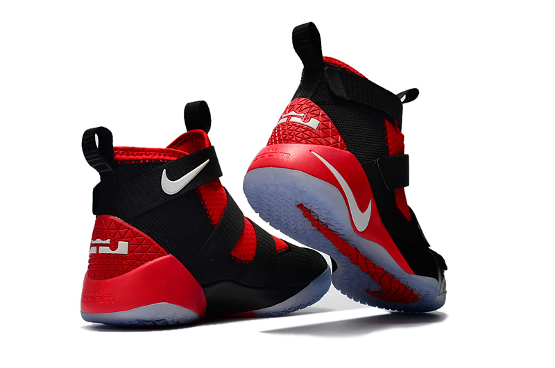 9ca37ab136d3 Nike Zoom Lebron Soldiers XI 11 black red Men Basketball Shoes ...