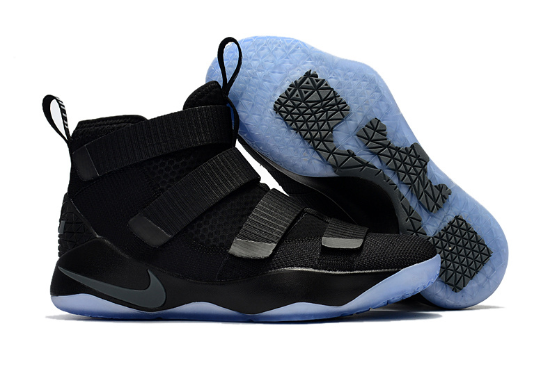 meet 297d1 76bc8 Prev Nike Zoom Lebron Soldiers XI 11 cool black Men Basketball Shoes. Zoom