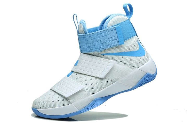 on sale d2153 356a5 Nike Lebron Soldier 10 EP X James Kay Yow Basketball Shoes White Blue 844375