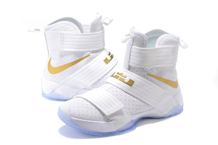 uk availability f41d6 a83e0 Nike Lebron Soldier 10 SFG EP X James Strive for Greatness White Gold  844379-101
