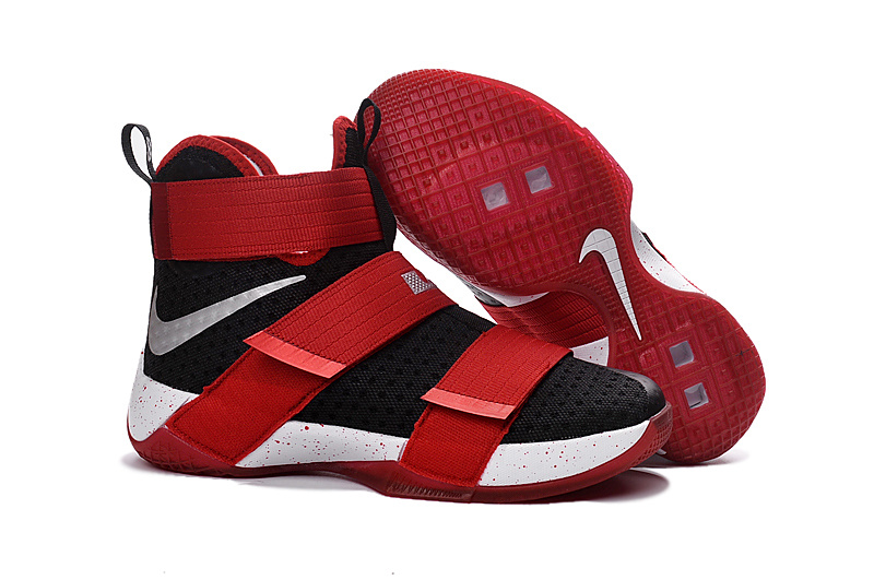 online retailer 36f2d df7ea Prev Nike Lebron Soldier 10 X White Black Red Basketball Shoes Men Sneaker  844378. Zoom