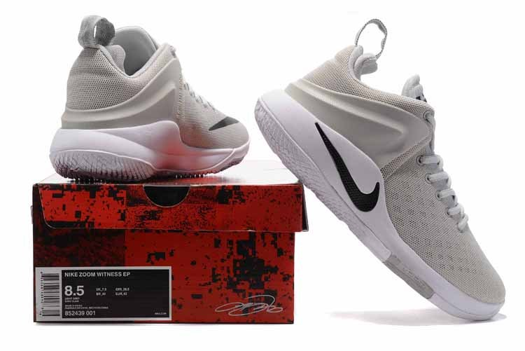 Nike Zoom Witness EP light gray black white Men Basketball Shoes 852439 001