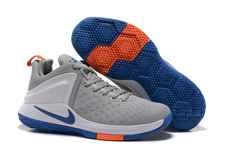 hot sale online 27310 77c2a Prev Nike Zoom Witness Lebron James Grey Blue Grey Basketball Shoes  884277-004. Zoom