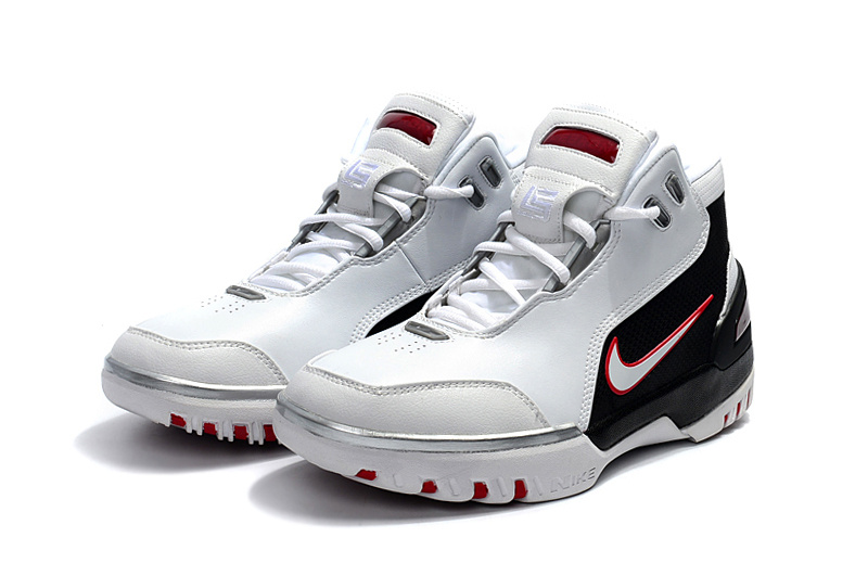 buy popular d2026 151ef Nike Zoom Lebron I 1 white black red Men Basketball Shoes