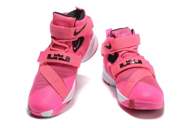competitive price 2c5b9 f8be0 Nike Zoom Lebron Soldier IX Men Basketball Breast Cancer Awareness Shoes  749417-601