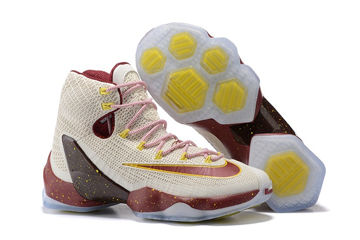 d0fb6f40f3a8 Prev Nike Lebron XIII Elite EP 13 James Men Basketball Shoes Beige Yellow  Black Red 831924
