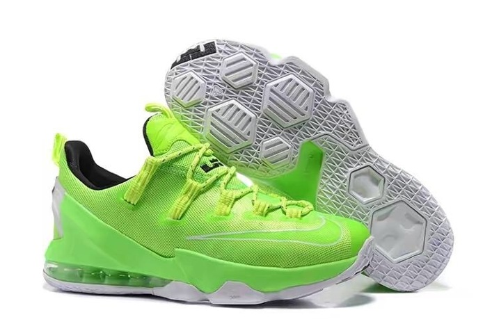 795071cccc4 Prev Nike Lebron XIII Low EP James 13 Men Basketball Shoes Flu Green White  Black 831926. Zoom