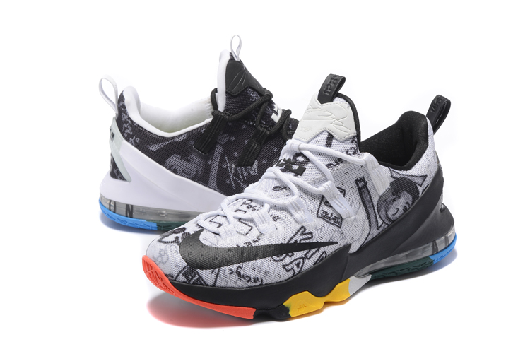huge discount c5fb8 87217 ... Nike Zoom Lebron XIII 13 Low Family Foundation James Graffiti Limited  Men Basketball Shoes Sneaker 849783 ...