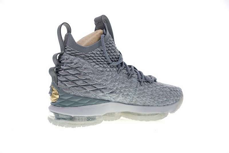 huge selection of 4f650 e748e Nike LeBron 15 City Edition Wolf Grey Metal Gold 897649-005