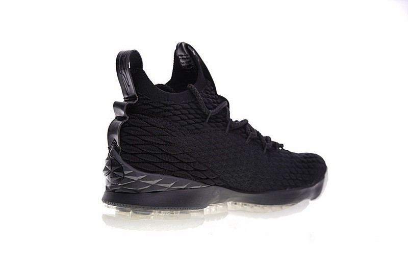177c89f4fd5a7 Nike Lebron 15 Xv Pe Ohio State University Triple Black White Basketball  897648-010