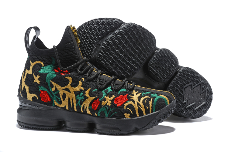 67407c7086caa ... Lebron XV 15 Men Basketball Shoes Flower Black. Zoom. Move your mouse  over image or click to enlarge