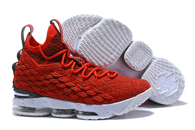 9e7ad190ab7aa ... Lebron XV 15 Men Basketball Shoes Red White. Zoom. Move your mouse over  image or click to enlarge