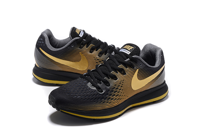 new style af1f8 42343 ... Nike Air Zoom Pegasus 34 EM Men Running Shoes Sneakers Trainers Black  Gold 831350-011 ...