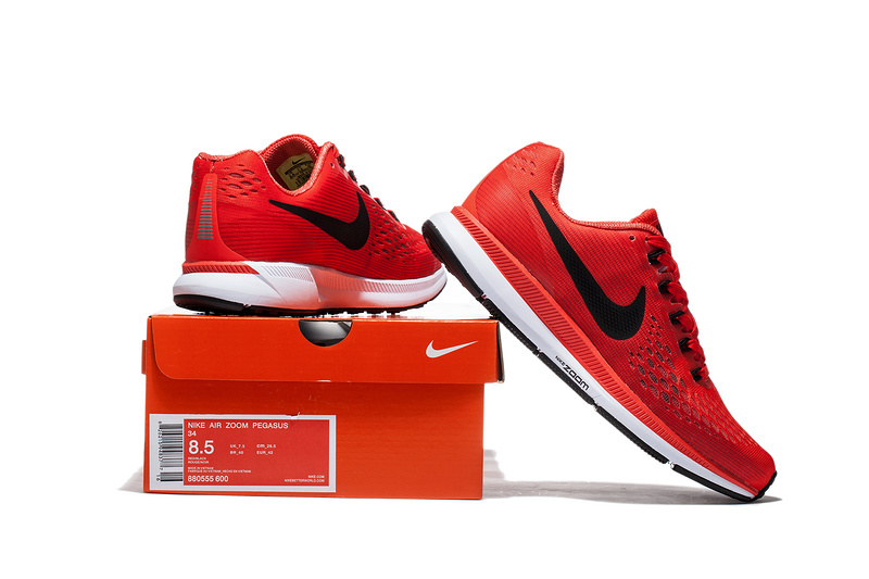 cheaper 018e3 a719c Nike Air Zoom Pegasus 34 EM Pure Red White Men Running Shoes Sneakers  Trainers 880555-600