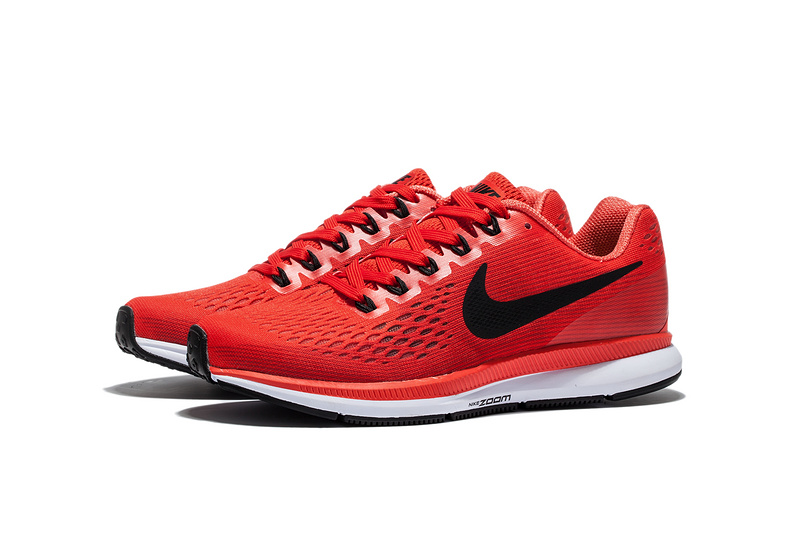 Nike Air Zoom Pegasus 34 EM Pure Red White Men Running Shoes Sneakers Trainers 880555 600