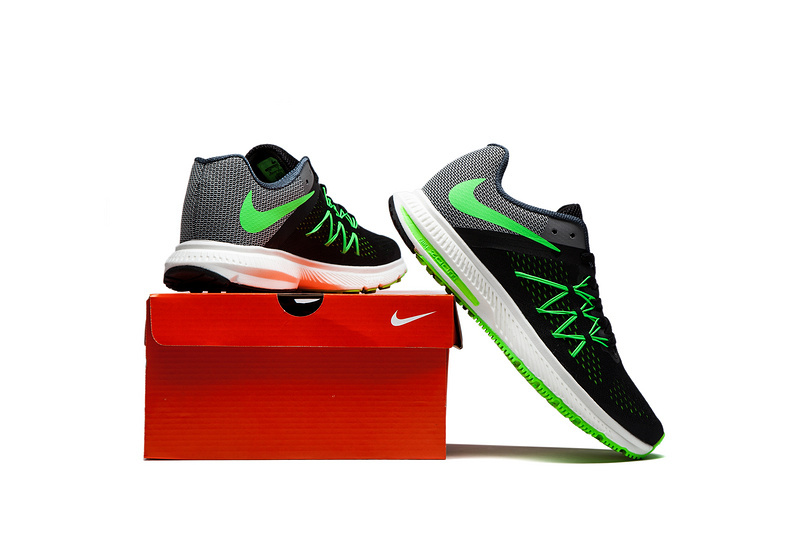 54ef2c53cb74 ... Nike Zoom Winflo 3 Light Green Black Men Running Shoes Sneakers  Trainers 831561 ...
