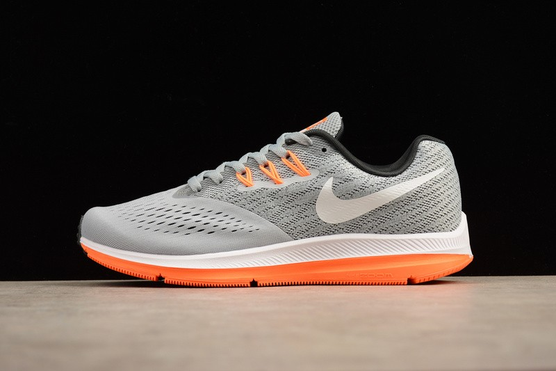 b93b51d445497 Prev Nike Zoom Winflo 4 Grey Orange Training Athletic Sneaker 898466-002.  Zoom