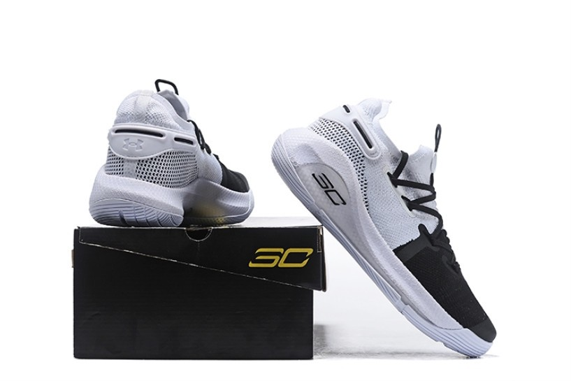 best service bdfd4 2ed5d Under Armour Curry 6 White Black Silver 3020612-101